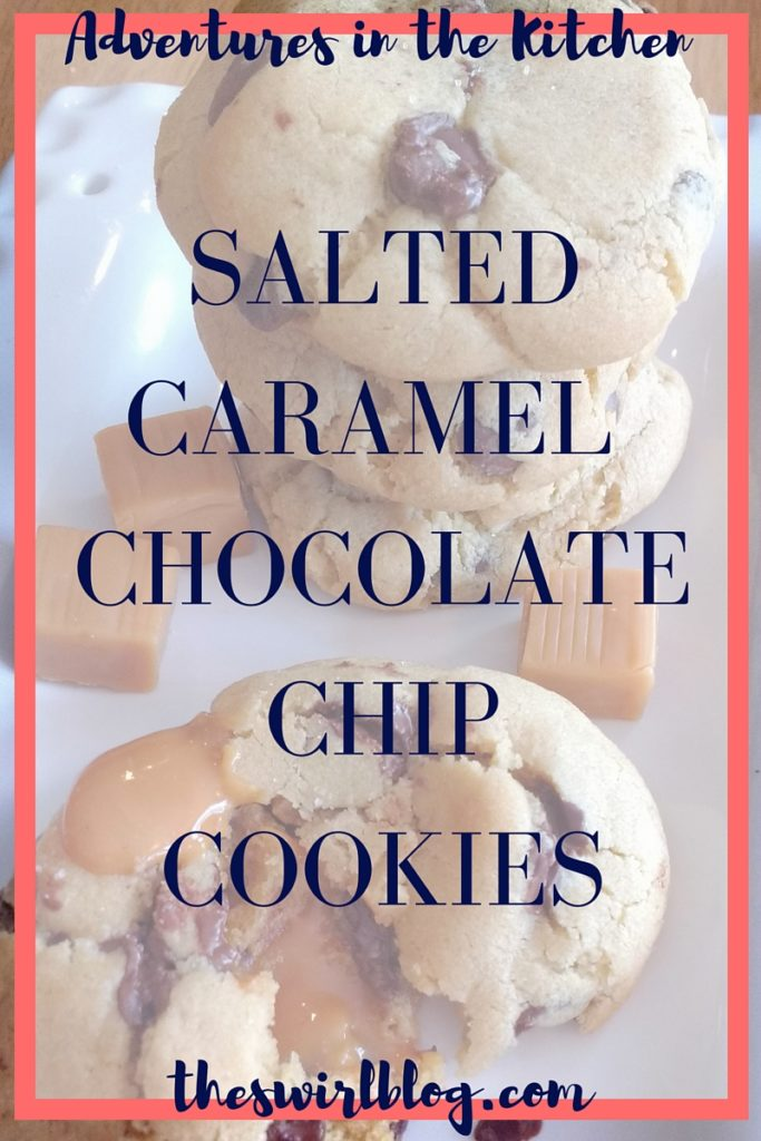 Salted Caramel and Chocolate Chip Cookies