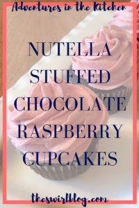 Nutella Stuffed Chocolate Raspberry Cupcakes