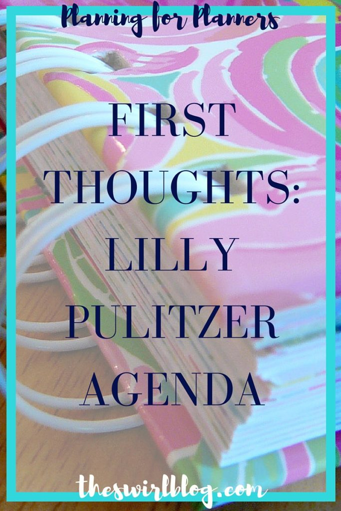 First Thoughts Lilly Pulitzer Agenda