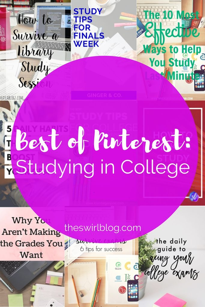 Best of Pinterest Studying in College