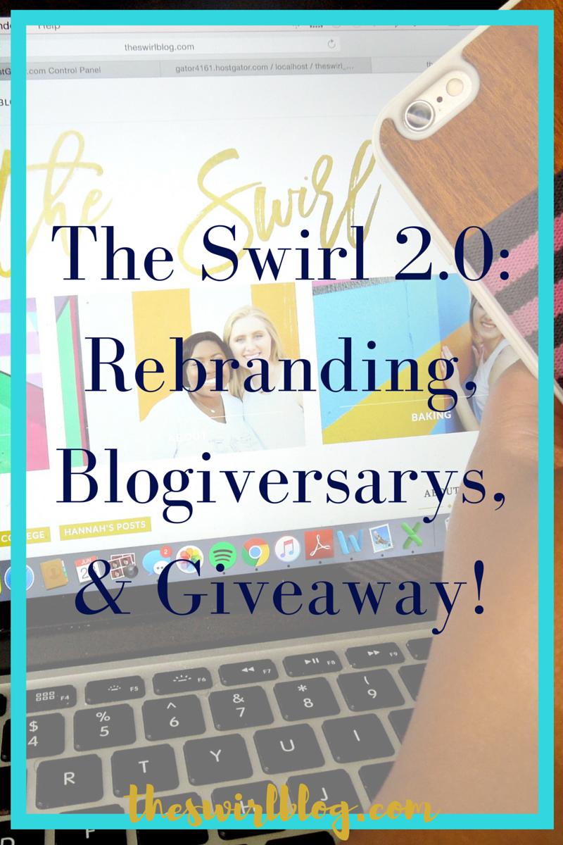 Rebranding,Blogiversarys,Giveaways
