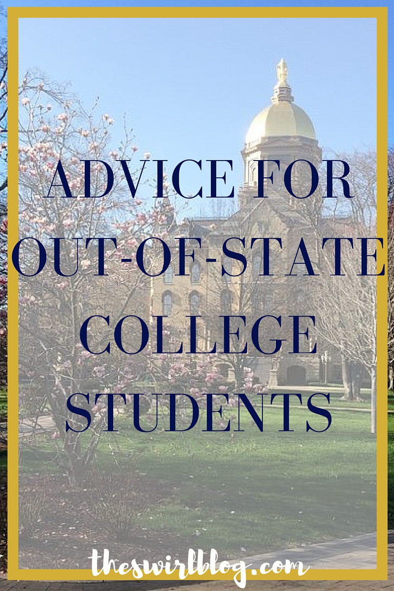 advice for out-of-state college students