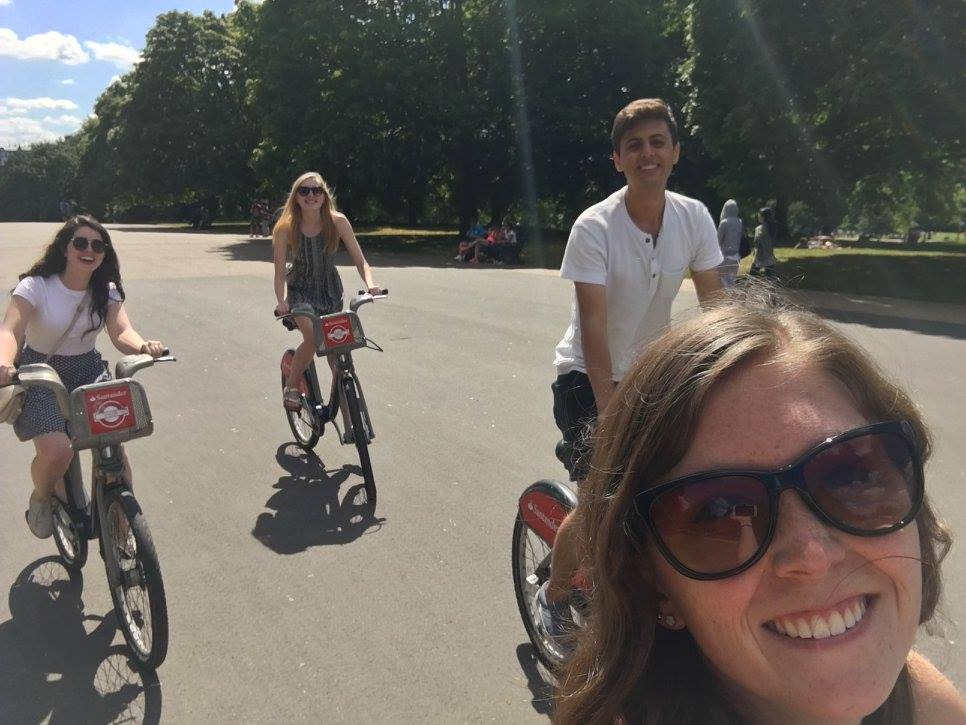 Biking around London