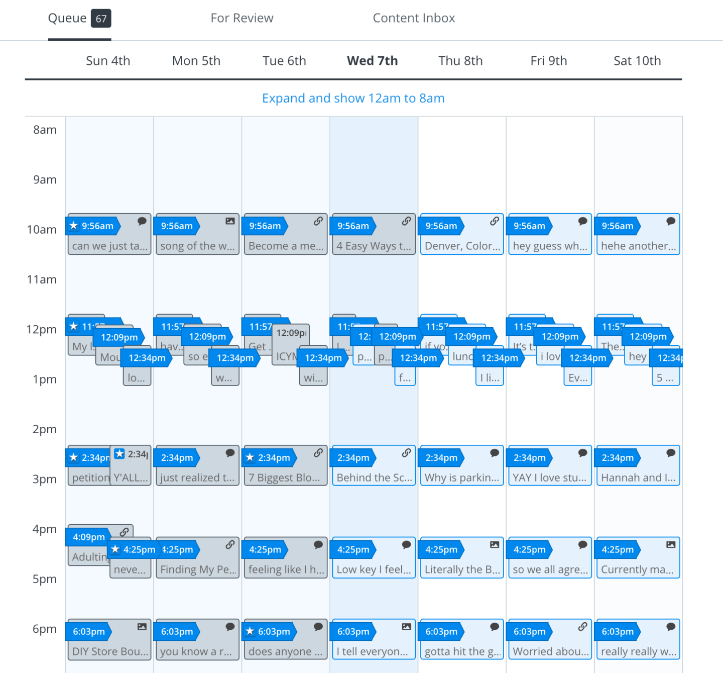 Buffer Schedule - Increase Blog Engagement