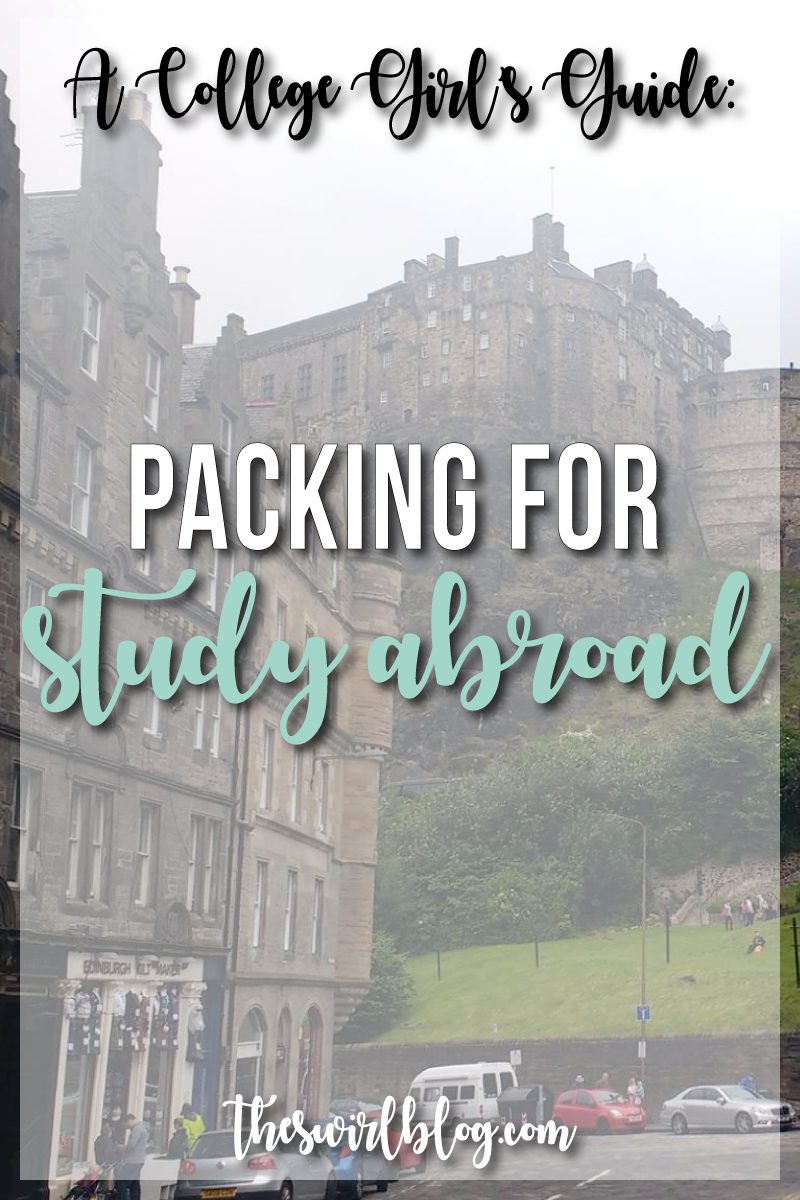 Today I'm sharing my tips + tricks for packing for study abroad, for both long-haul trips and little 3-day weekend trips!