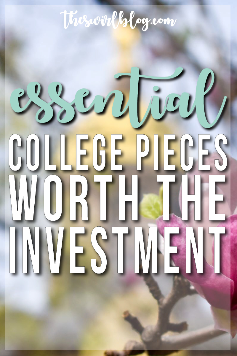 Click through to see some of my essential college pieces - they can be a bit pricey, but they'll last you all through college and beyond!