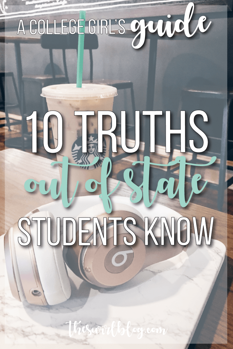 Out of State Students have unique perspective when it comes to their college experience. Here are 10 truths I've noticed as a Virginian at a North Carolina school!