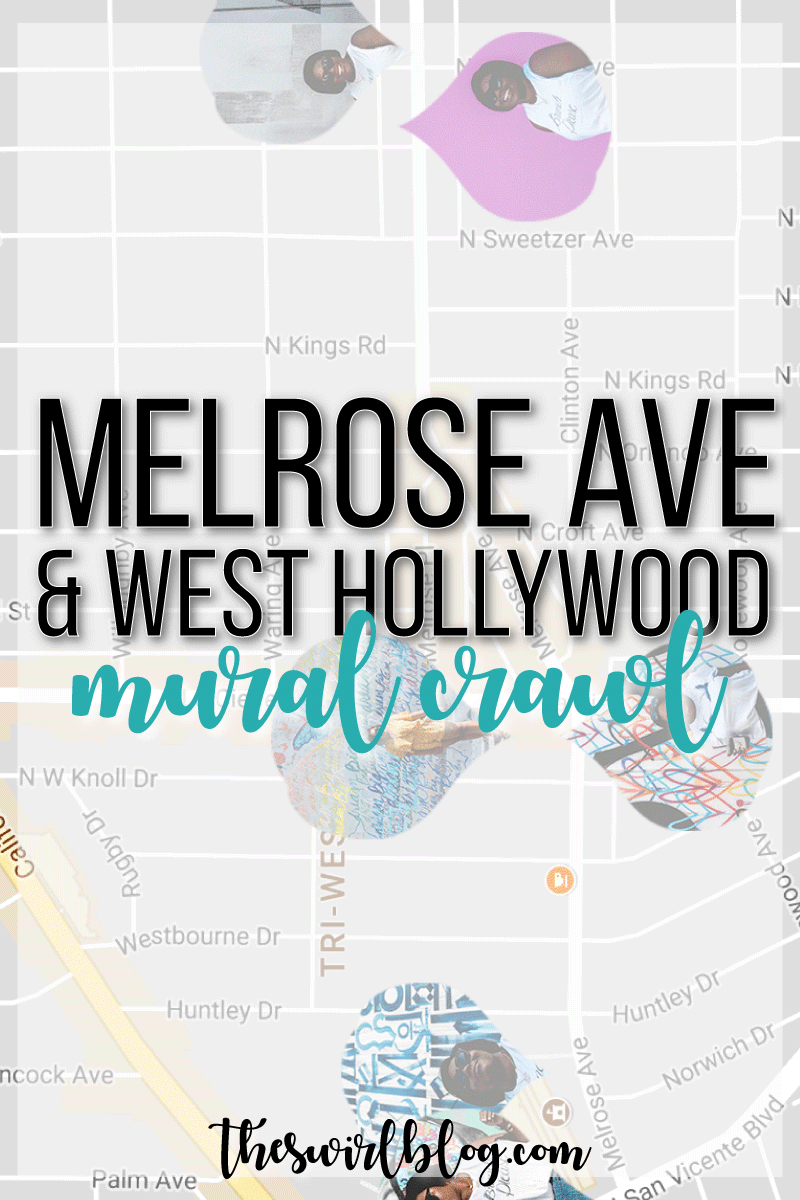 A walkable mural crawl of West Hollywood including all the best Melrose murals and some break spots for brunch and coffee in between photo ops.