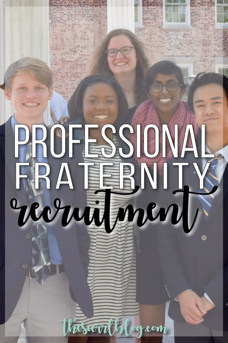 Nervous about recruitment for your professional or honor fraternity recruitment?!? Check out my guide on the blog!