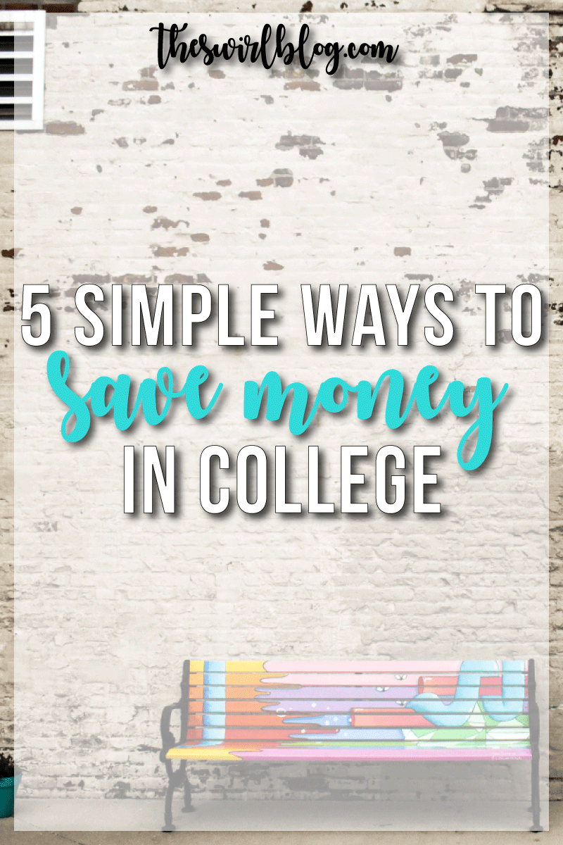 While I'm not going to show you how to *stop* spending money, there are little things you can do to save money in college. Let's start saving!