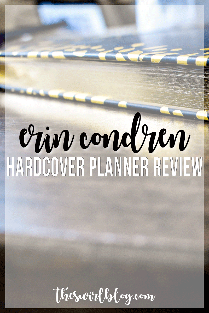 When I saw the new Erin Condren Hardcover Planner, I ordered it right away. I'm happy to report that this planner has everything I need in a planner, and looks great too!