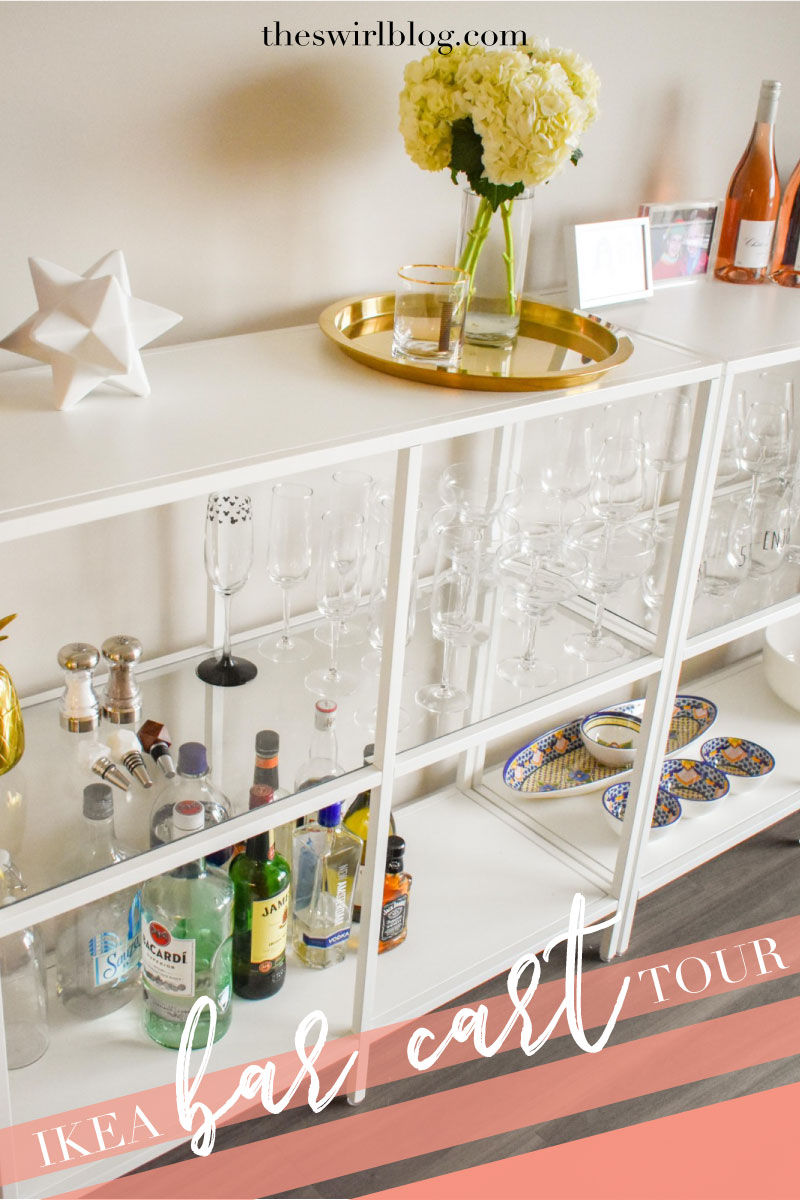 ikea bar cart tour gabby in the city. Black Bedroom Furniture Sets. Home Design Ideas