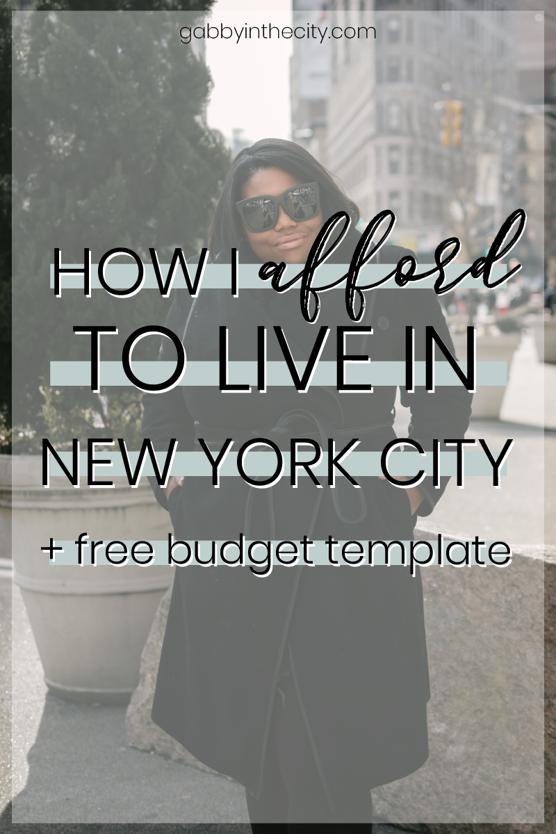 How I Afford to Live in NYC As A Graduate Student + Budget